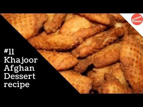 Afghan Khajoor Recipe 'Afghan Cuisine' Cooking Afghan food