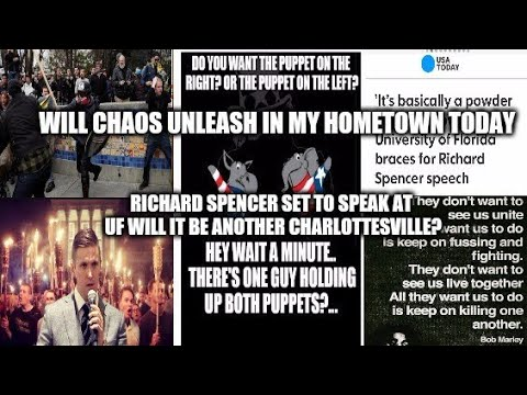 Richard Spencer Speaking In Gainesville FL Mainstream Calling It A Powder Keg! They Want This Chaos!
