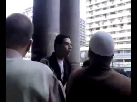 شيعي يسب السعوديه في مصر ...شاهد ما حدث له