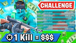 1 Elimination = RENT MONEY (Fortnite Challenge)