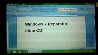 Reparatur Window 7 ohne CD - Windowsstartreparatur