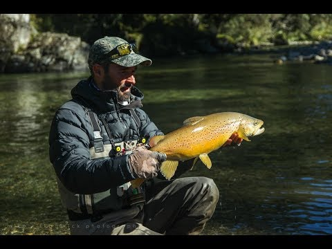 Campfire reflections - Large late season Browns. Fly fishing NZ.