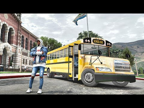 GTA 5 REAL LIFE MOD #536 - SCHOOL BUS DRIVER!!! (GTA 5 REAL LIFE MODS)