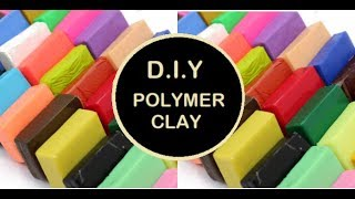 DIY   How to make homemade polymer clay ( in just 2 minutes)