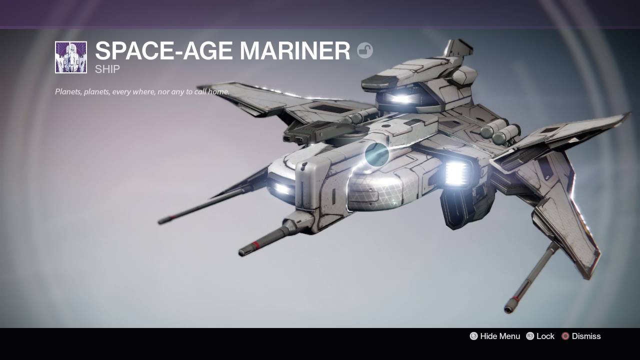 Destiny The Taken King Space Age Mariner Waning Star Legendary
