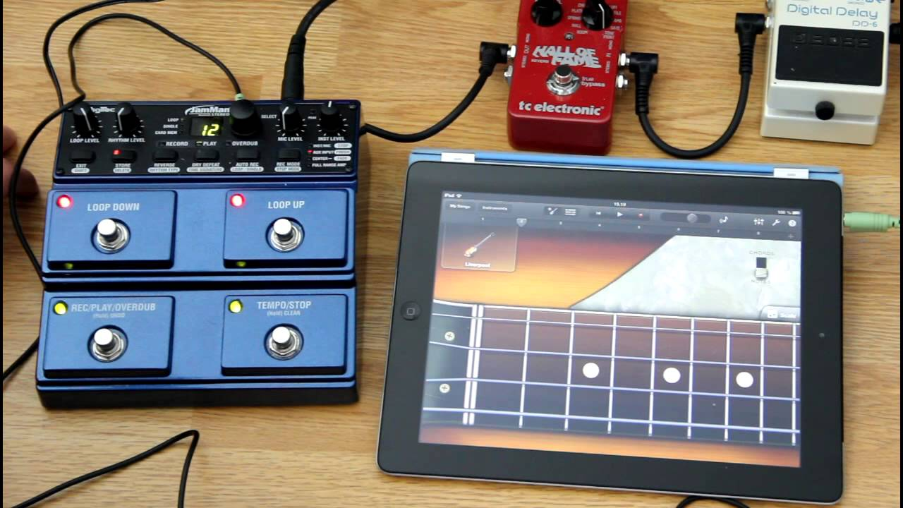 digitech jamman stereo looper ipad guitar youtube. Black Bedroom Furniture Sets. Home Design Ideas