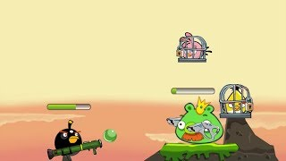 Angry Birds Ultimate Battle - RESCUE ALL BIRDS TEAM BY SHOOT ROCKET TO KING PIG!