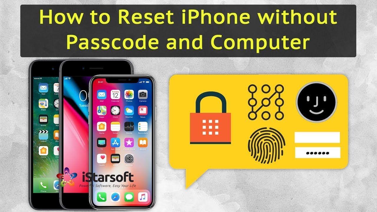 How to Reset iPhone without Passcode and Computer - YouTube