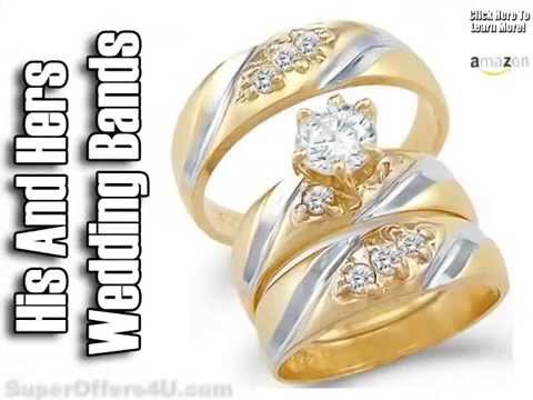 Great His And Hers Wedding Bands White Gold|Cheap White Gold Wedding Bands    YouTube