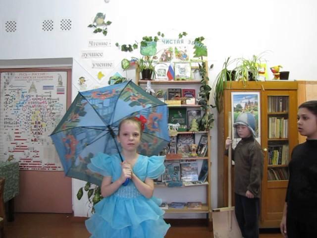 Изображение предпросмотра прочтения – «2А класс» читают произведение «Басня Стрекоза и Муравей» И.А.Крылова