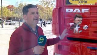 Camión decorado DAF de la Selección Española