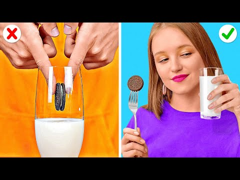 SNACK HACKS AND FUNNY TRICKS    Cool Food Tricks You Can Do Right Now