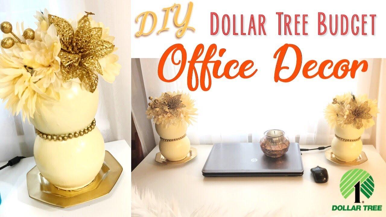 Diy Office Decor Ideas Dollar Tree Budget 2017 Youtube