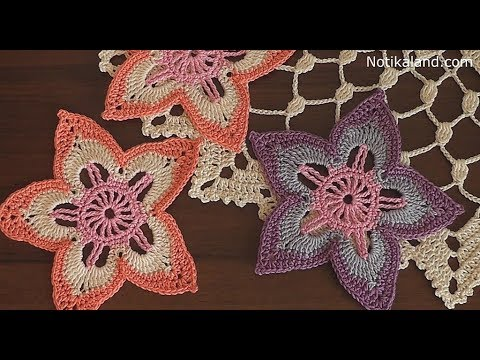 Crochet Flower 8 Tutorial Part 2 Irish Crochet Flowers Free