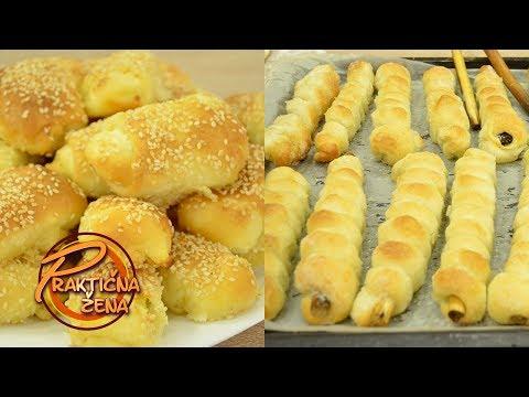 Praktična žena - 1. Najmekše domaće kiflice sa sirom 2. Slatki kolač na kukuruzovini