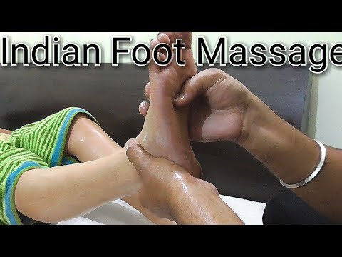 Indian foot and leg massage, Asmr massage videos.