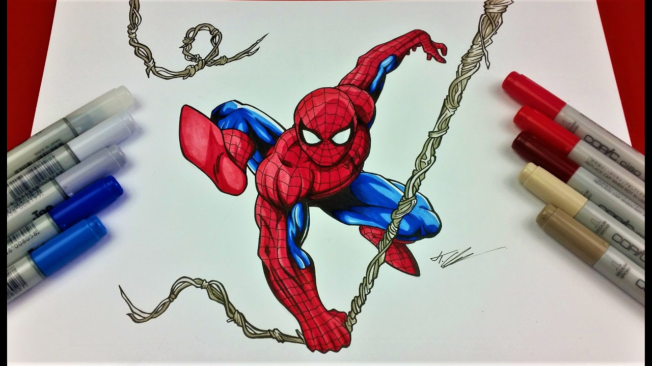 Spider Drawings Man Pencil Homecoming