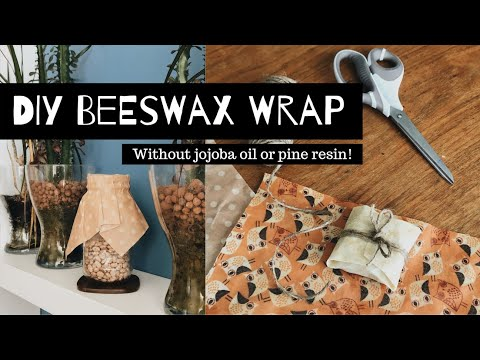 How to Make a Beeswax Wrap (without jojoba oil or pine resin) | Eco DIY | 친환경 비즈왁스 랩 만들기