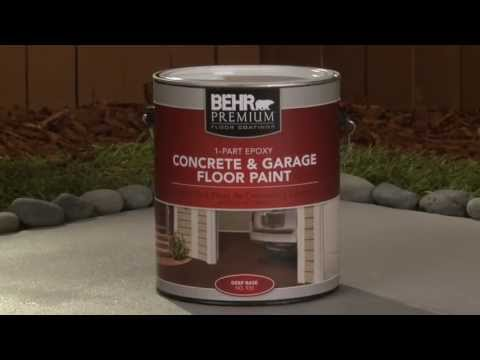 How To Apply 1 Part Epoxy Concrete Garage U0026 Floor Paint | Behr