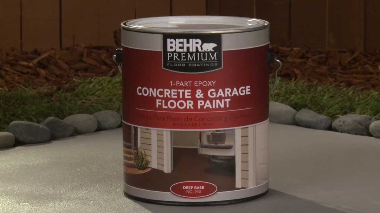 HowTo Apply Behr Premium Part Epoxy Concrete Garage Floor - Concrete floor treatments lowes