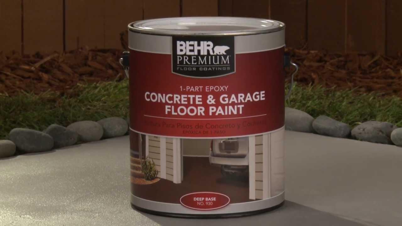 HowTo Apply Behr Premium 1Part Epoxy Concrete  Garage