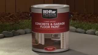 How-To: Apply Behr Premium 1-Part Epoxy Concrete & Garage Floor Paint