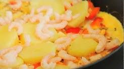 Katkarapu-perunamunakas