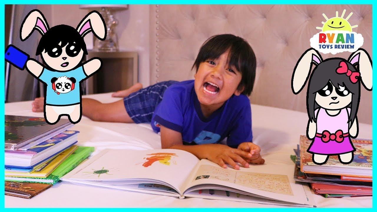 Ryan Reading Book Story Time - Kid Night Routine!