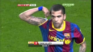 Dani Alves Amazing Goal vs Getafe 03/19/11