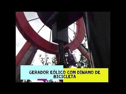 Gerador Eólico com Dínamo de Bicicleta