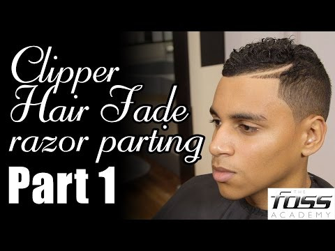 How to cut a Clipper Hair Fade with a razor parting Part 1 (The Mayfair Barber)