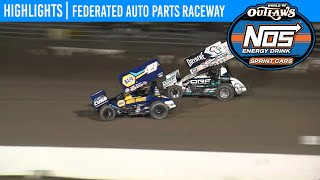 World of Outlaws NOS Energy Drink Sprint Cars Federated Auto Parts Raceway May 22, 2020 | HIGHLIGHTS