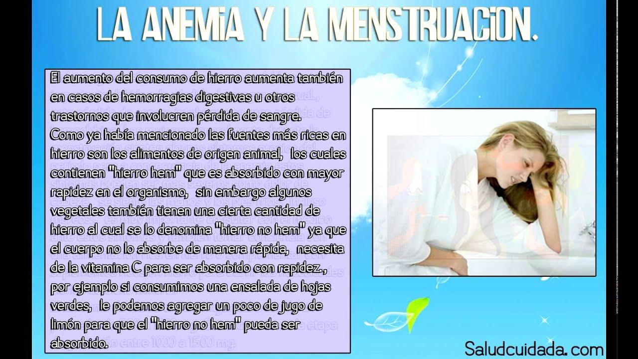 Anemia y menstruacion. Account Options