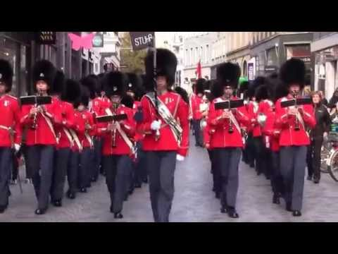 Marching Through The Streets Of Copenhagen With Tivoli's Fifes & Drums Boy Guards