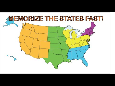 memorize the 50 states song the easy and fast way to learn the 50 states for kids and adults