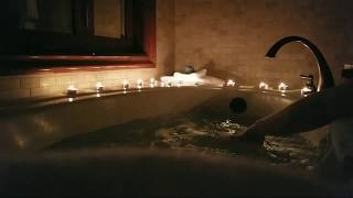 LIVE ASMR Whirlpool Jacuzzi w/ Bath Bombs and Candles
