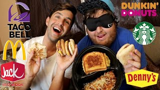 FINAL BLINDFOLD FASTFOOD CHALLENGE! (BREAKFAST FOODS!)