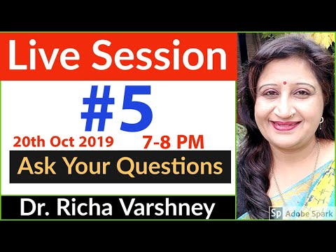 Dr. Richa Varshney Live Session #5 | Acupressure | Aromatherapy | Home Remedies