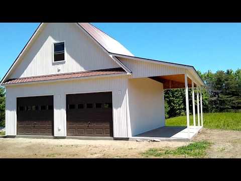 Building a Cape Garage and Carport Complete