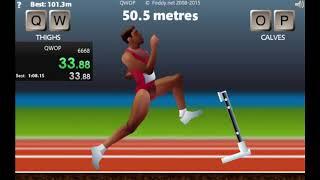 QWOP speedrun 01:07.39