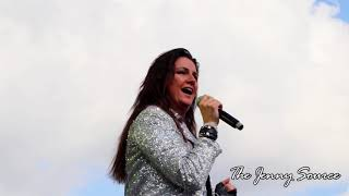 Jenny Berggren from Ace of Base at Die 90er Live in Regensburg, Germany<