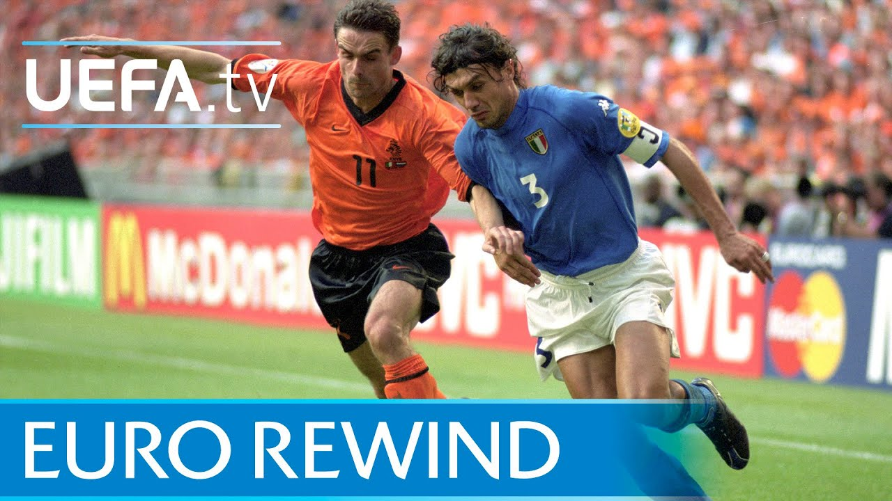 EURO 2000 highlights: Italy beat the Netherlands on penalties - YouTube