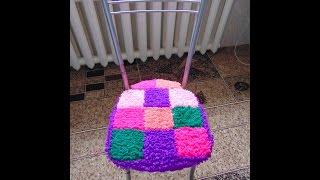 Вязание крючком накидка на стул.