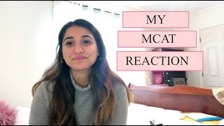 MY MCAT REACTION!!! - SEPTEMBER 2018 EXAM