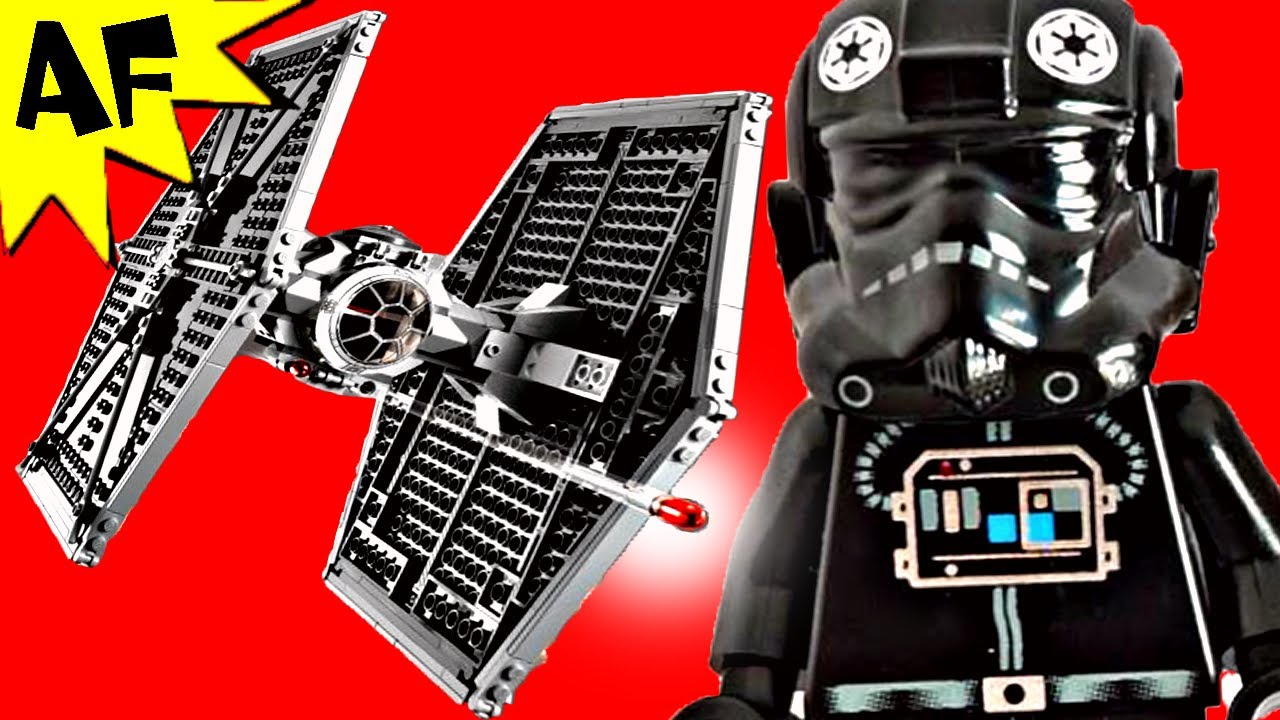 tie fighter lego star wars set 9492 animated building review youtube
