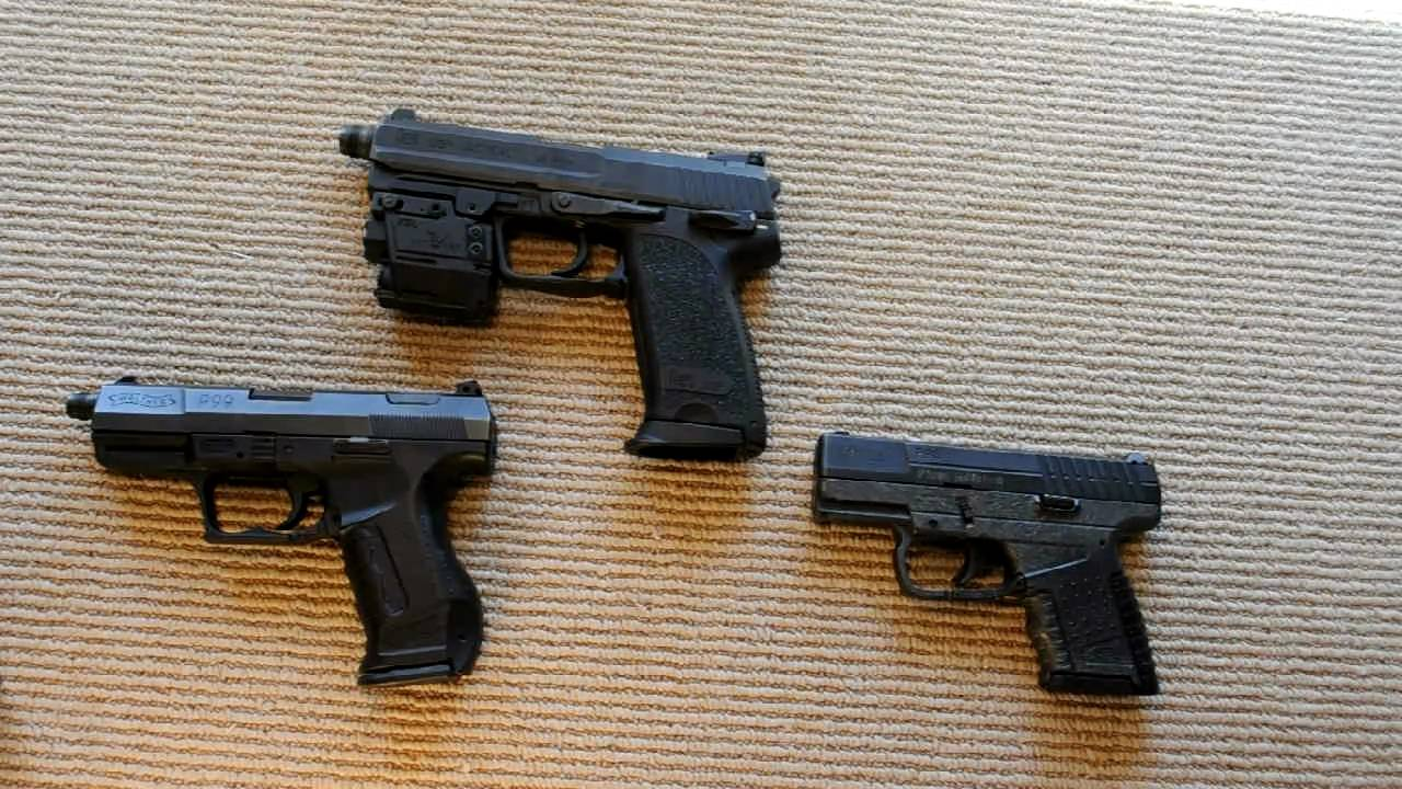 A look at the Walther and H&K magazine release system