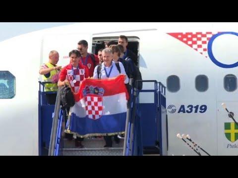 L'équipe de Croatie atterrit à Zagreb, la foule en liesse