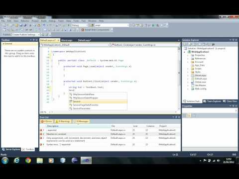 Using Sessions in ASP .NET C#
