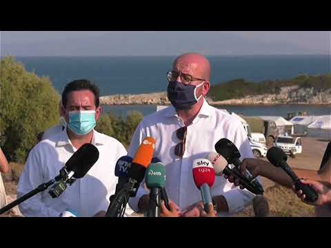 Migration issue a European challenge. President Michel visits Moria Camp in Lesbos