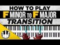 how to play quot f minor to f major transition quot piano chords